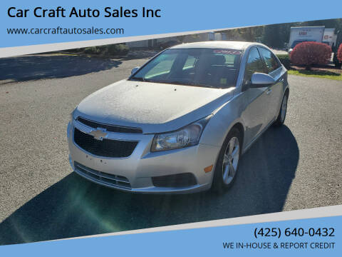 2013 Chevrolet Cruze for sale at Car Craft Auto Sales Inc in Lynnwood WA