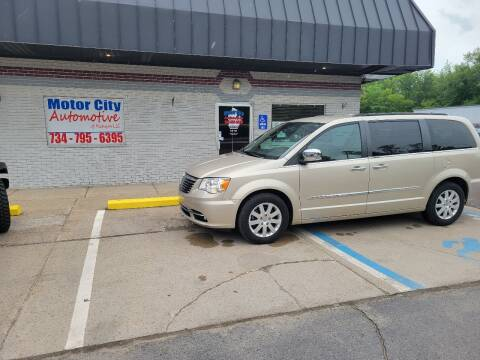 2012 Chrysler Town and Country for sale at Motor City Automotive of Michigan in Flat Rock MI