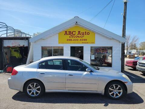 2005 Infiniti G35 for sale at ABC AUTO CLINIC - Chubbuck in Chubbuck ID