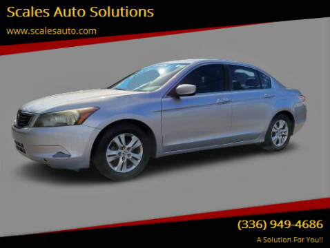 2008 Honda Accord for sale at Scales Auto Solutions in Madison NC