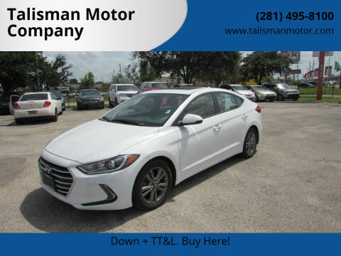2018 Hyundai Elantra for sale at Talisman Motor Company in Houston TX
