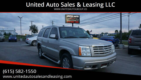 2004 Cadillac Escalade for sale at United Auto Sales & Leasing LLC in La Vergne TN