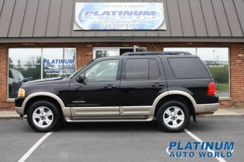 2005 Ford Explorer for sale at Platinum Auto World in Fredericksburg VA