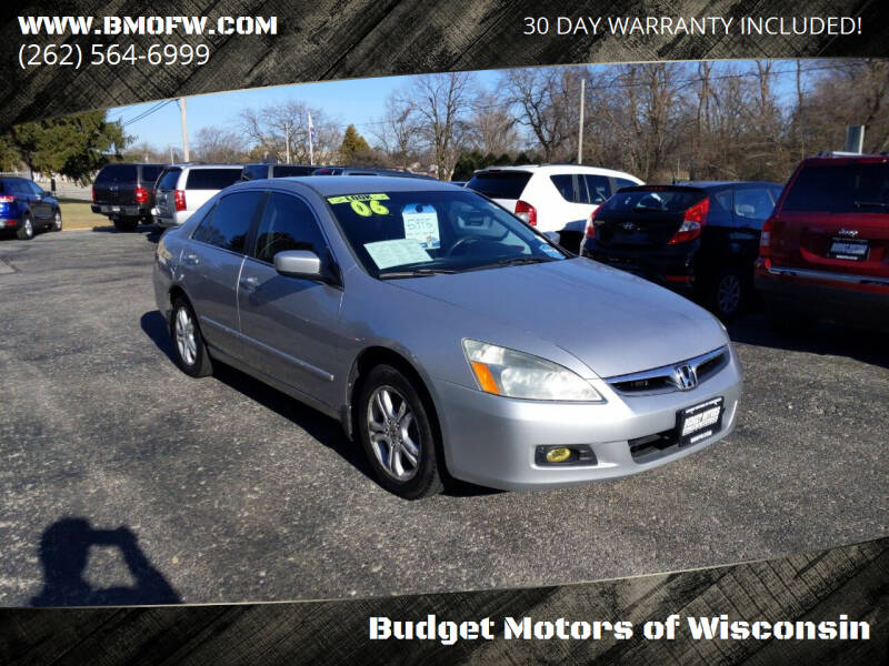 2006 Honda Accord for sale at Budget Motors of Wisconsin in Racine WI