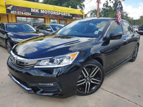 2017 Honda Accord for sale at MK Motorsports LLC. in Orlando FL