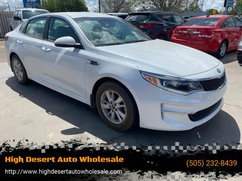 2017 Kia Optima for sale at High Desert Auto Wholesale in Albuquerque NM