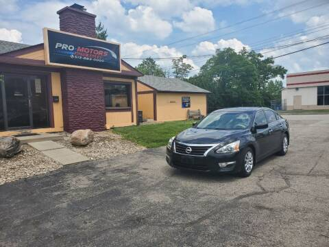 2015 Nissan Altima for sale at Pro Motors in Fairfield OH