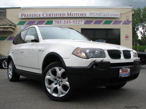 2005 BMW X3 for sale at Prestige Certified Motors in Falls Church VA
