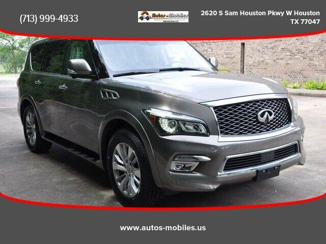 2015 Infiniti QX80 for sale at AUTOS-MOBILES in Houston TX