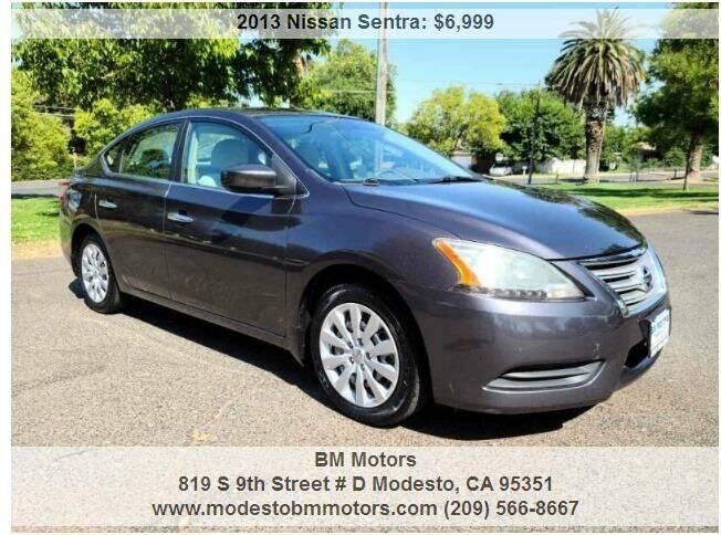 2013 Nissan Sentra for sale at BM Motors in Modesto CA