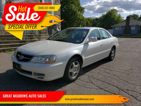 2002 Acura TL for sale at GREAT MEADOWS AUTO SALES in Great Meadows NJ