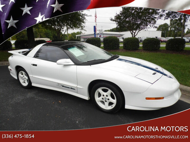 1994 Pontiac Trans Am for sale at CAROLINA MOTORS in Thomasville NC