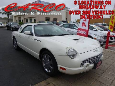 2002 Ford Thunderbird for sale at CARCO SALES & FINANCE in Chula Vista CA
