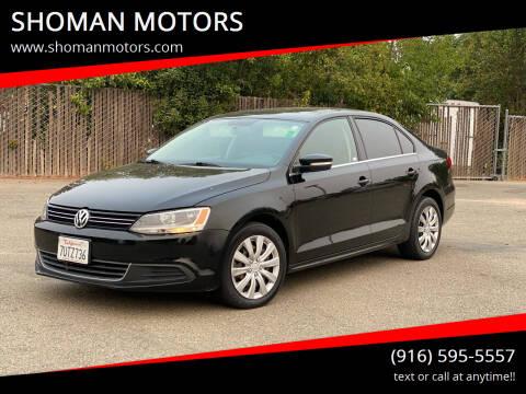 2013 Volkswagen Jetta for sale at SHOMAN MOTORS in Davis CA