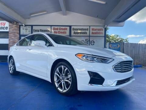 2019 Ford Fusion for sale at ELITE AUTO WORLD in Fort Lauderdale FL