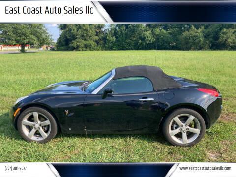 2006 Pontiac Solstice for sale at East Coast Auto Sales llc in Virginia Beach VA