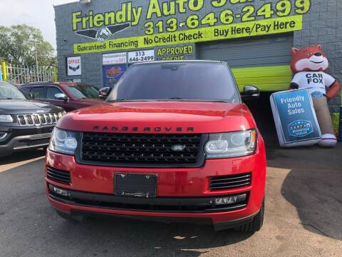2014 Land Rover Range Rover for sale at Friendly Auto Sales in Detroit MI