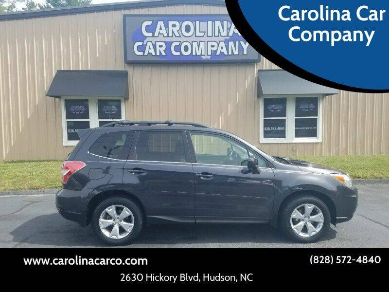 2015 Subaru Forester for sale at Carolina Car Company in Hudson NC
