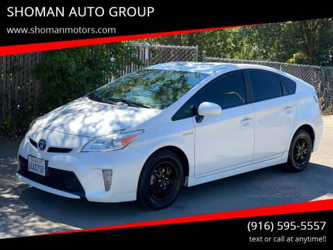 2012 Toyota Prius for sale at SHOMAN MOTORS in Davis CA