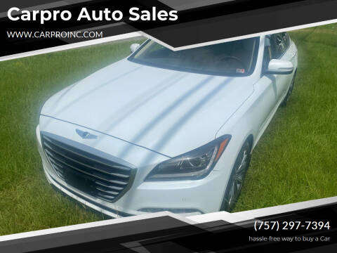 2016 Hyundai Genesis for sale at Carpro Auto Sales in Chesapeake VA