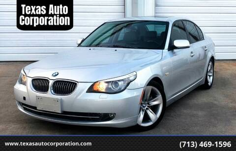 2008 BMW 5 Series for sale at Texas Auto Corporation in Houston TX