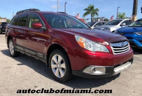 2011 Subaru Outback for sale at AUTO CLUB OF MIAMI, INC in Miami FL