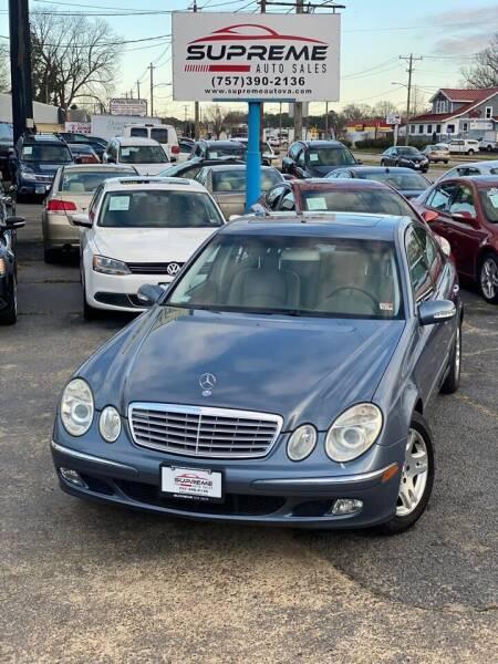 2003 Mercedes-Benz E-Class for sale at Supreme Auto Sales in Chesapeake VA
