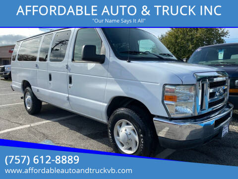 2008 Ford E-Series Wagon for sale at AFFORDABLE AUTO & TRUCK INC in Virginia Beach VA