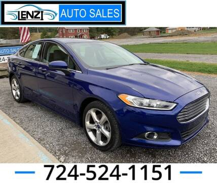 2016 Ford Fusion for sale at LENZI AUTO SALES in Sarver PA
