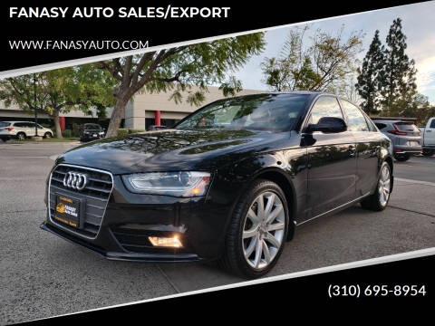2013 Audi A4 for sale at FANASY AUTO SALES/EXPORT in Yorba Linda CA