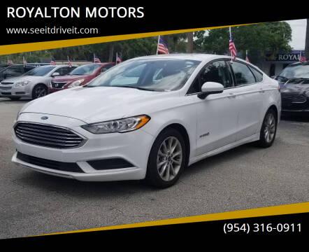 2017 Ford Fusion Hybrid for sale at ROYALTON MOTORS in Plantation FL