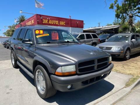 2003 Dodge Durango for sale at 3K Auto in Escondido CA