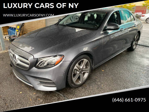 2018 Mercedes-Benz E-Class for sale at LUXURY CARS OF NY in Queens NY