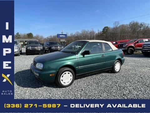 1997 Volkswagen Cabrio for sale at Impex Auto Sales in Greensboro NC