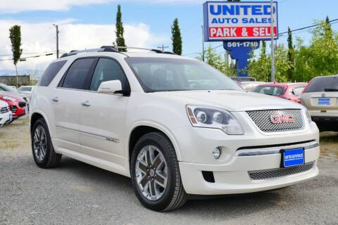 2012 GMC Acadia for sale at United Auto Sales in Anchorage AK