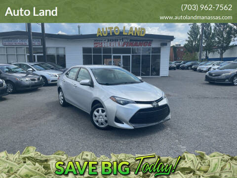 2017 Toyota Corolla for sale at Auto Land in Manassas VA