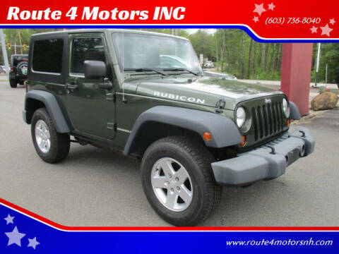 2008 Jeep Wrangler for sale at Route 4 Motors INC in Epsom NH