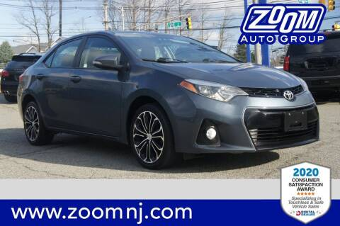 2016 Toyota Corolla for sale at Zoom Auto Group in Parsippany NJ