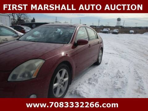 2004 Nissan Maxima for sale at First Marshall Auto Auction in Harvey IL