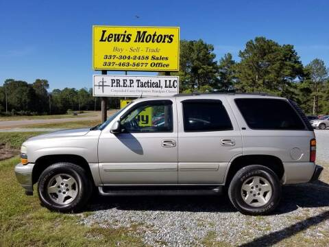 2005 Chevrolet Tahoe for sale at Lewis Motors LLC in Deridder LA