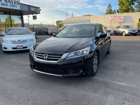 2013 Honda Accord for sale at Adams Auto Sales in Sacramento CA