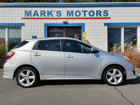 2009 Toyota Matrix for sale at Mark's Motors in Northampton MA