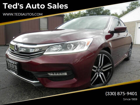 2016 Honda Accord for sale at Ted's Auto Sales in Louisville OH