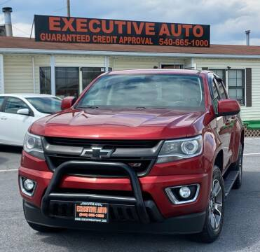 2015 Chevrolet Colorado for sale at Executive Auto in Winchester VA