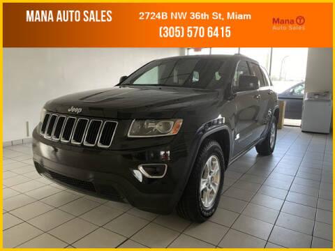 2014 Jeep Grand Cherokee for sale at MANA AUTO SALES in Miami FL