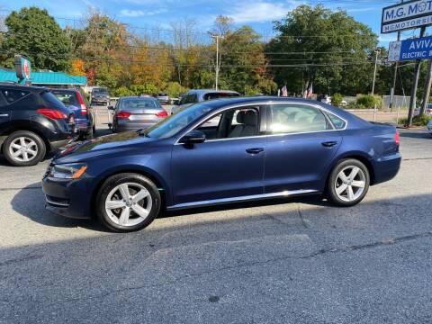 2012 Volkswagen Passat for sale at M G Motors in Johnston RI