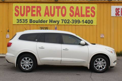 2015 Buick Enclave for sale at Super Auto Sales in Las Vegas NV