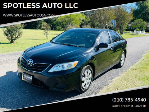 2010 Toyota Camry for sale at SPOTLESS AUTO LLC in San Antonio TX