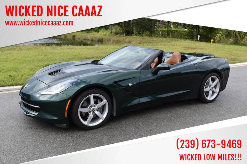 2014 Chevrolet Corvette for sale at WICKED NICE CAAAZ in Cape Coral FL