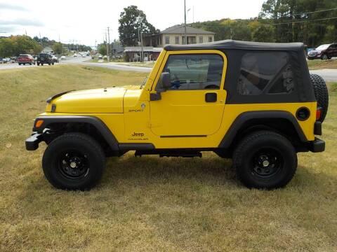 2005 Jeep Wrangler for sale at Parker Motor Co. in Fayetteville AR